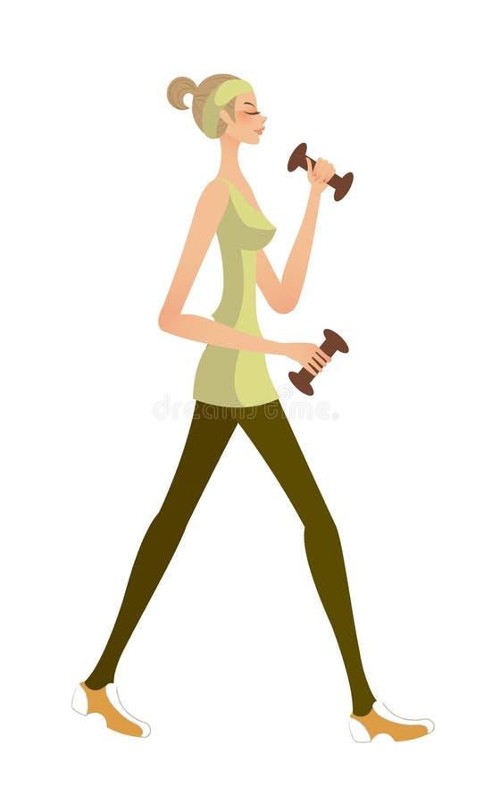 Download Vista laterale della donna illustrazione vettoriale. Illustrazione di creativo - 30828423