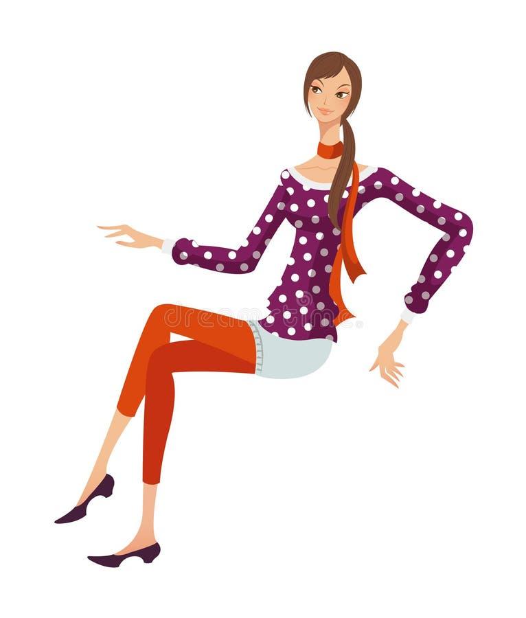 Download Vista laterale della donna illustrazione vettoriale. Illustrazione di immagine - 30828434