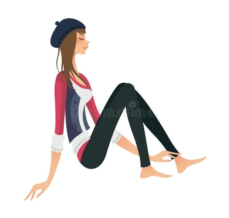 Download Vista laterale della donna illustrazione vettoriale. Illustrazione di illustrazione - 30828435