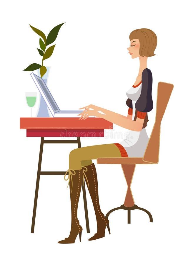 Download Vista laterale della donna illustrazione vettoriale. Illustrazione di illustrazione - 30828438