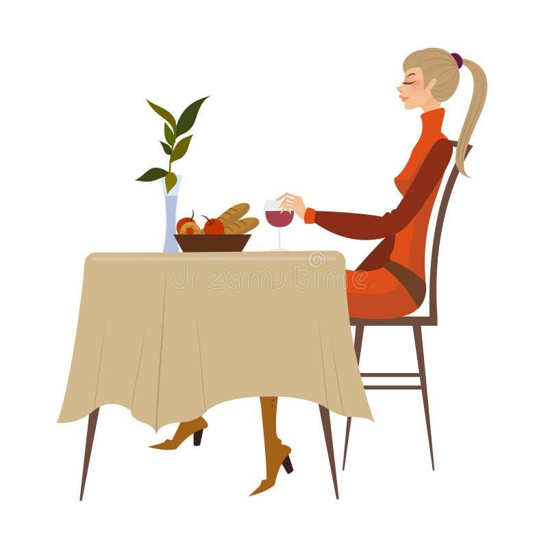 Download Vista laterale della donna illustrazione vettoriale. Illustrazione di adulto - 30828439