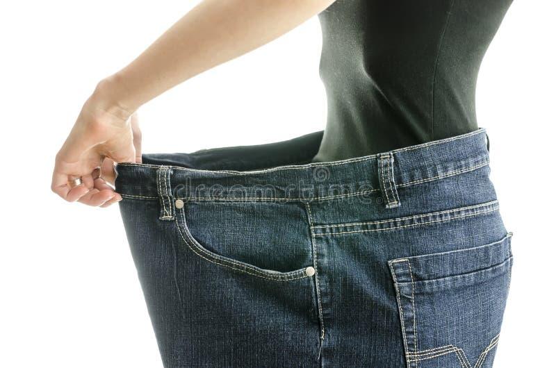 Riuscito concetto di perdita di peso immagine stock