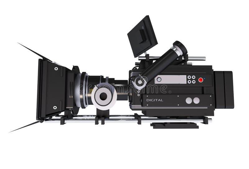 Vista laterale della macchina fotografica del cinema illustrazione vettoriale
