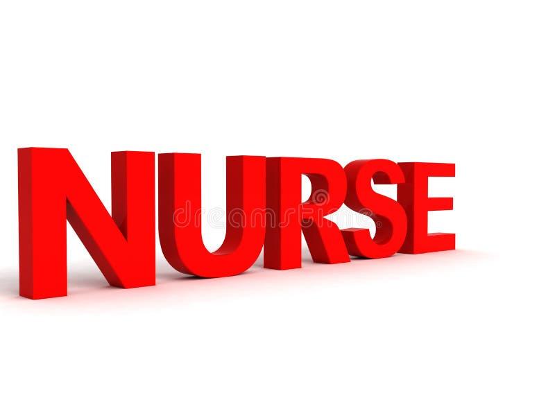 Vista laterale della parola dell'infermiera illustrazione vettoriale