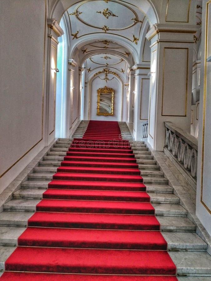 Vista laterale di Bratislava Castle fotografia stock libera da diritti