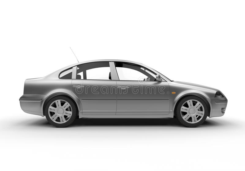 Vista laterale di un'automobile della berlina illustrazione vettoriale
