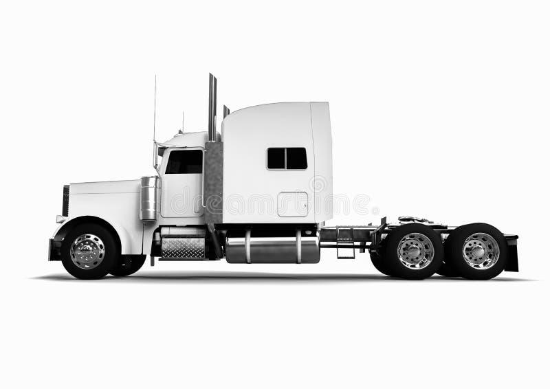 Vista laterale di un camion bianco royalty illustrazione gratis