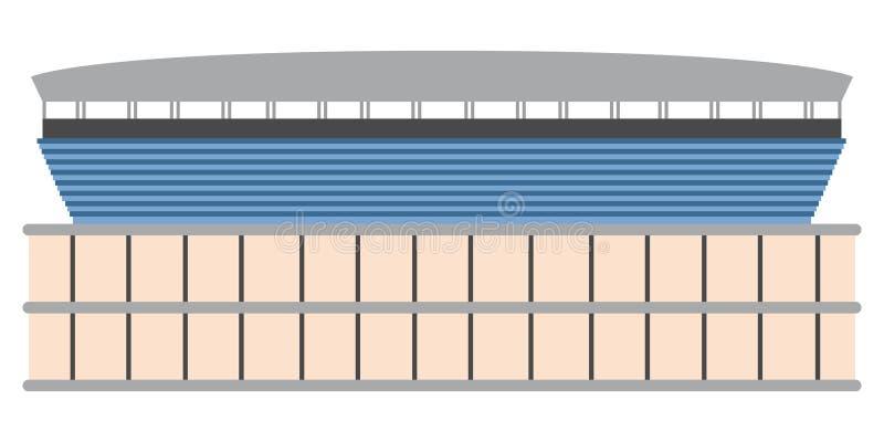 Download Vista Laterale Di Uno Stadio Di Calcio Illustrazione Vettoriale - Illustrazione di obiettivo, campionato: 117979875