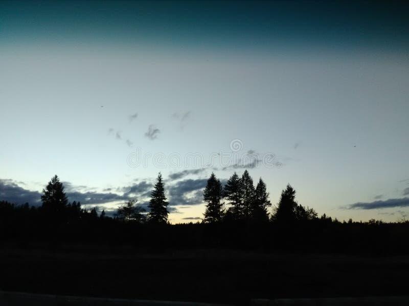 Vista lejana de la naturaleza Cielo fotografía de archivo libre de regalías