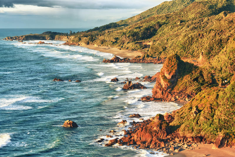 Vista litoral imagens de stock royalty free