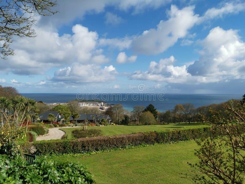 Vista litoral de St Ives, Cornualha fotografia de stock