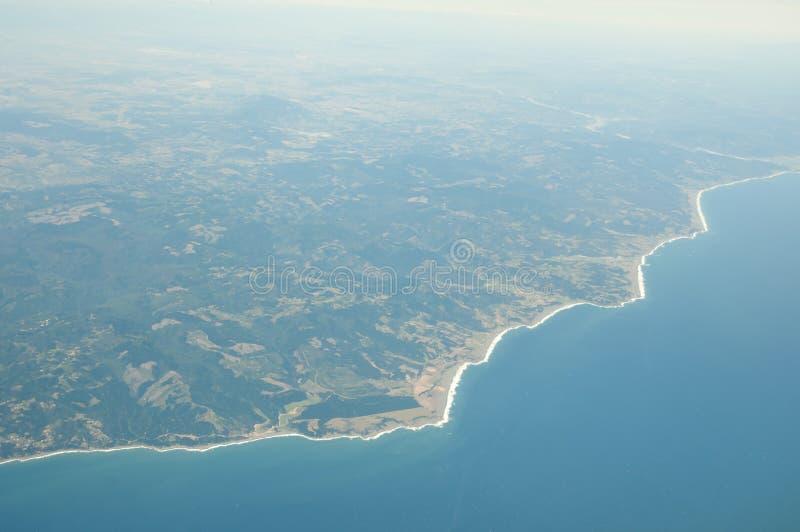Vista litoral do Chile fotografia de stock