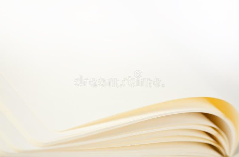 Vista macra de las paginaciones del cuaderno fotografía de archivo libre de regalías