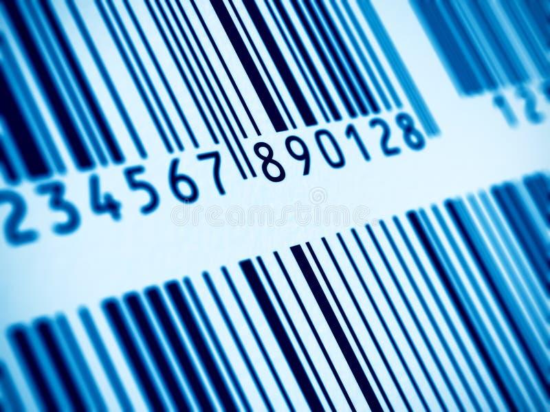 Vista a macroistruzione del codice a barre fotografie stock