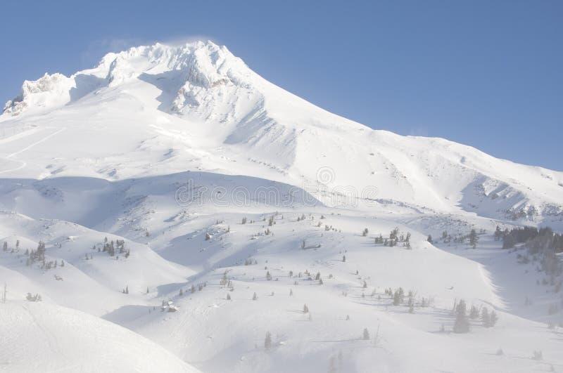 Vista maestosa del cappuccio del supporto nell'Oregon, S.U.A. immagini stock libere da diritti