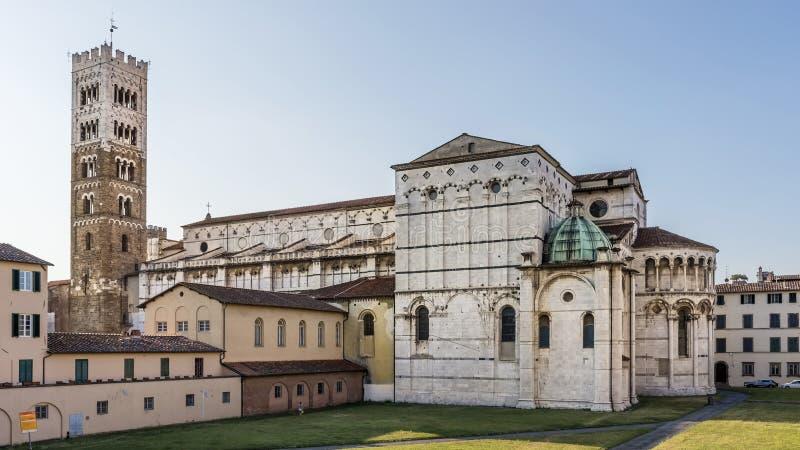 Vista magnífica da catedral de San Martino di Lucca, Toscânia, Itália imagem de stock royalty free