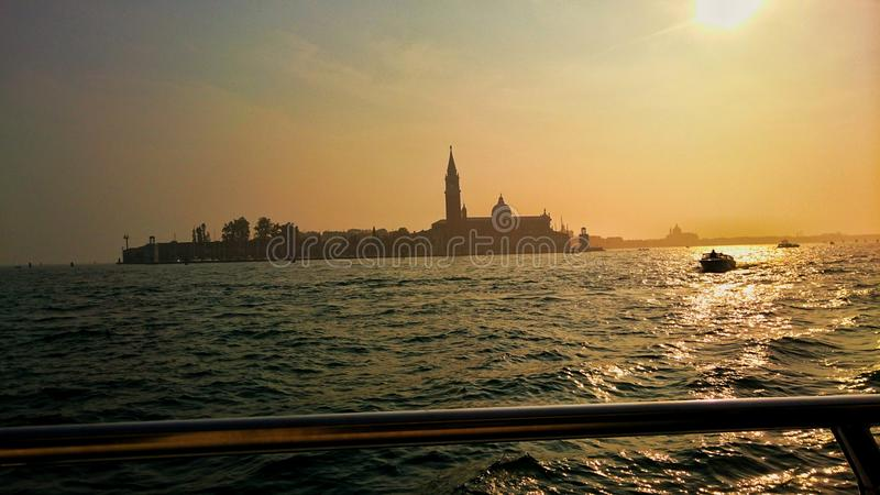 Vista magnífica del mar italiano fotografía de archivo libre de regalías