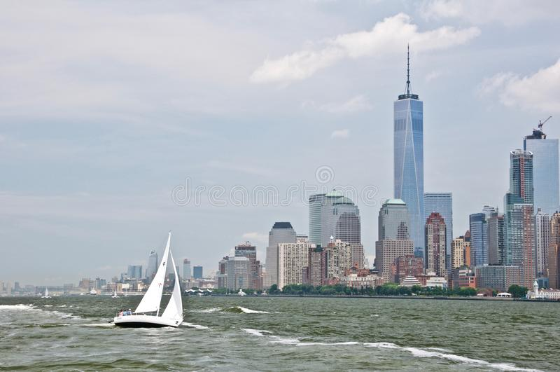 Vista a Manhattan imagens de stock