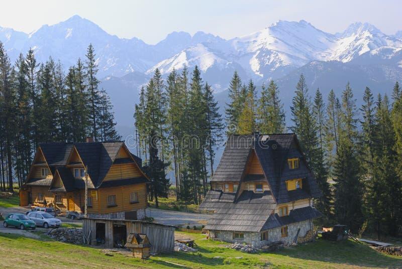 Vista maravillosa de las montañas de Tatra imagen de archivo libre de regalías