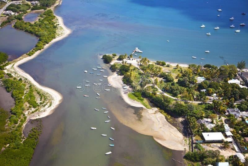 Vista Mauritius del cielo fotografia stock