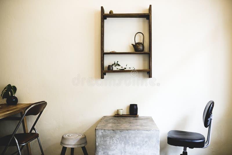 Vista minima del negozio del tè dell'interno immagine stock
