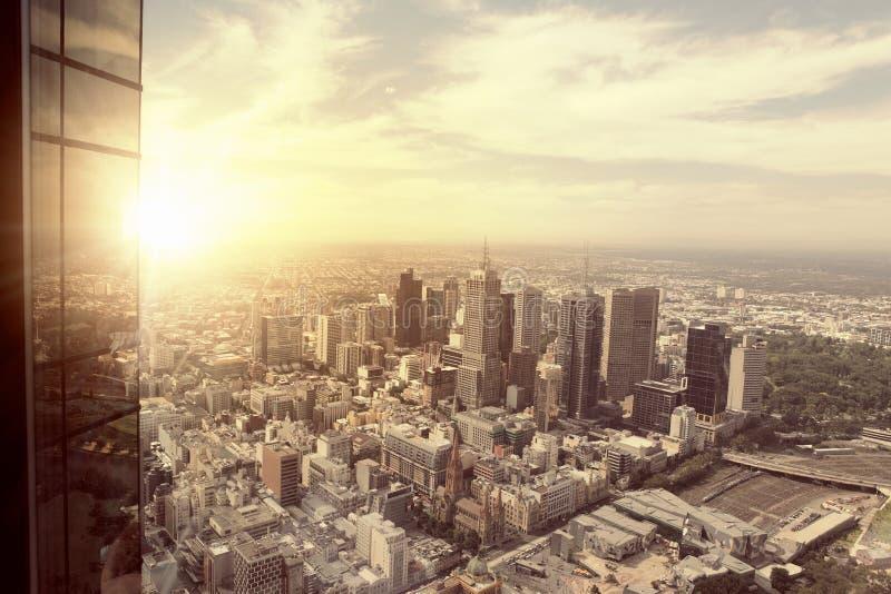 Vista moderna della città fotografia stock libera da diritti