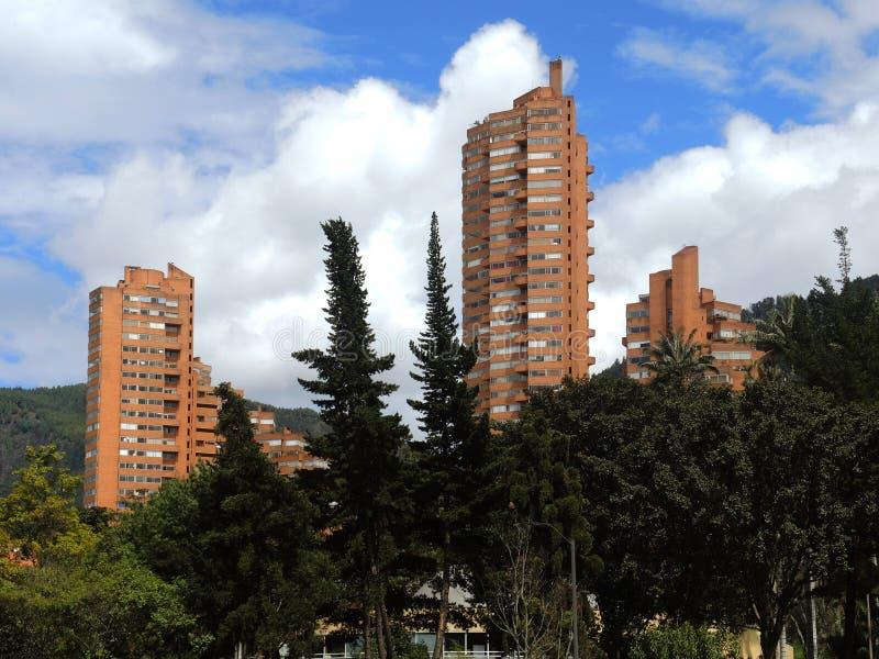 Vista moderna di Bogota, Colombia fotografie stock