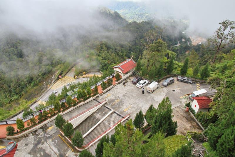 Vista montagnosa degli altopiani di Genting fotografia stock