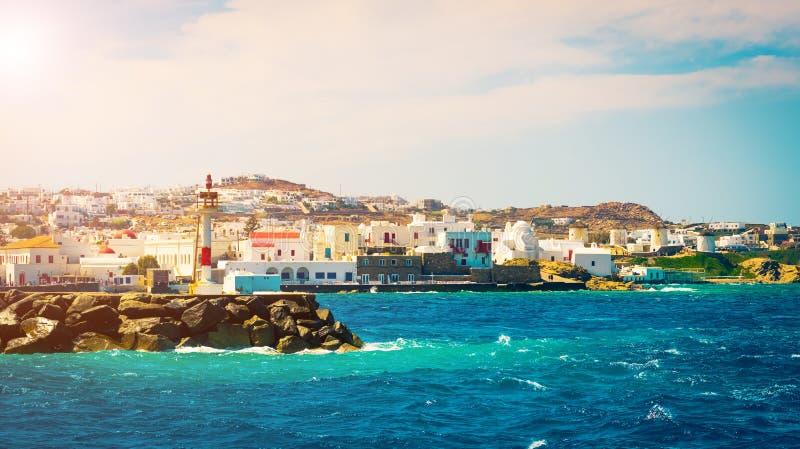 Vista a Mykonos immagini stock libere da diritti