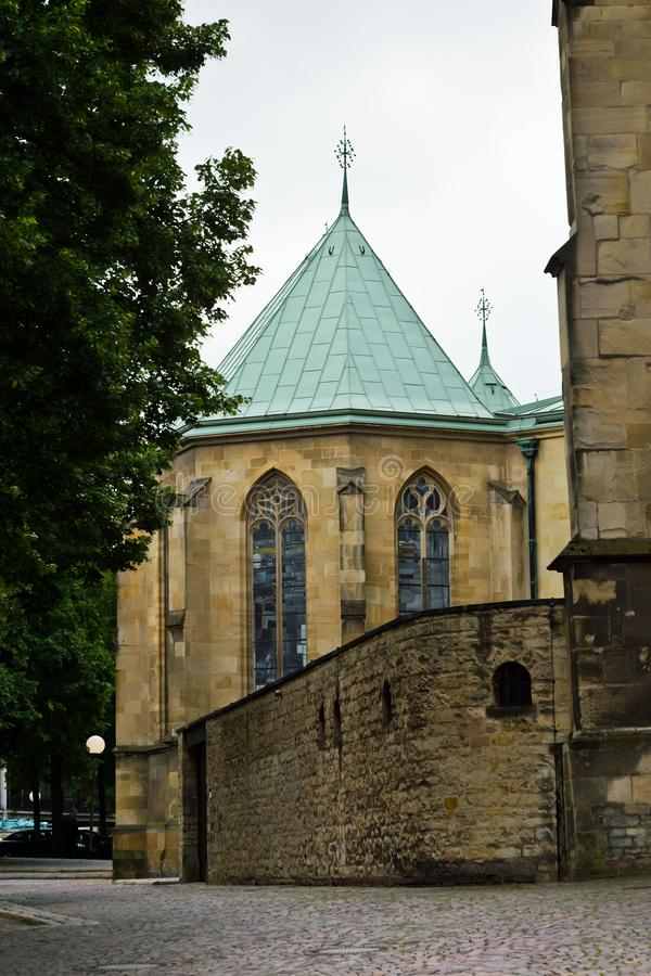 Vista na catedral de St Paul, Münster em Westphalia imagem de stock royalty free