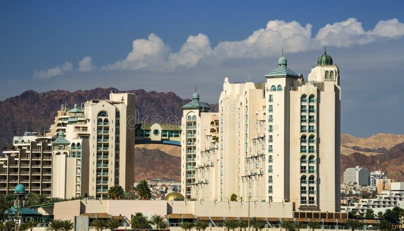 Vista na cidade de Eilat, Israel fotografia de stock