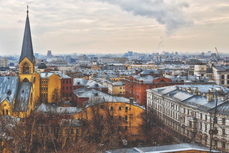 Vista na cidade de Moscou fotografia de stock royalty free