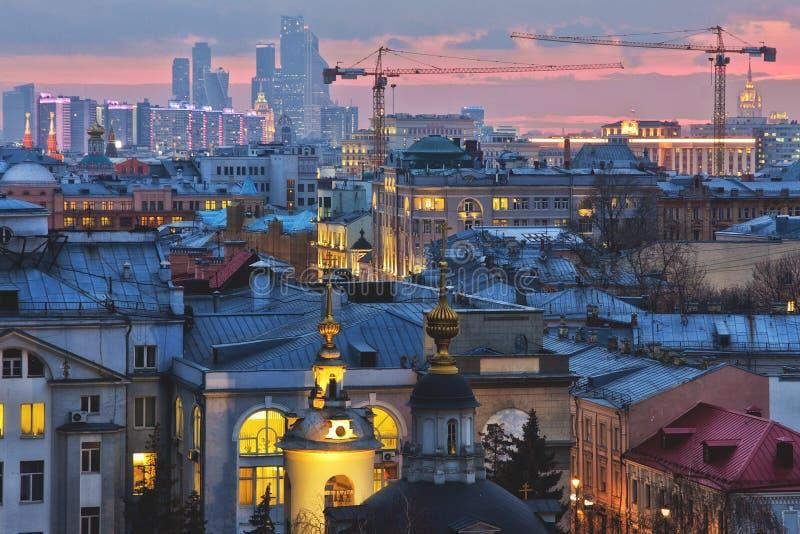 Vista na cidade de Moscou imagens de stock royalty free