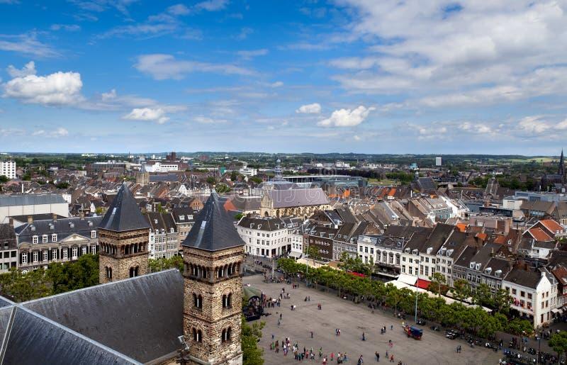 Vista na cidade Maastricht fotografia de stock royalty free