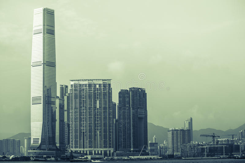Vista na HK imagens de stock royalty free