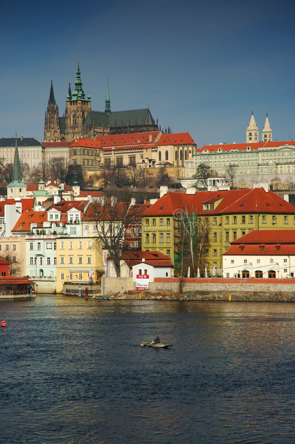 Vista na Praga foto de stock