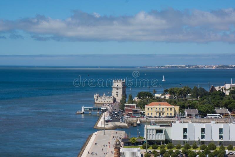 Vista na torre de Belém imagem de stock royalty free