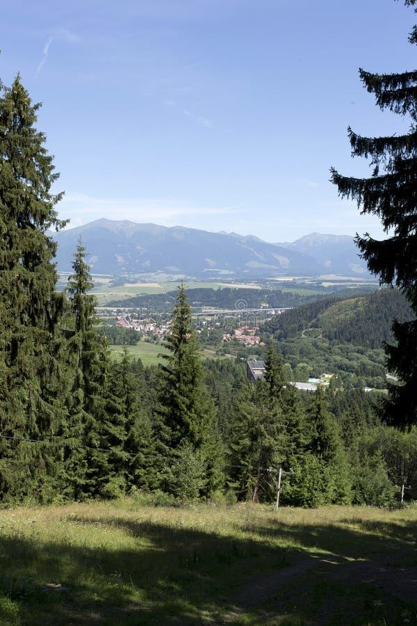 Vista nas montanhas Tatras alto de Eslováquia do verão fotos de stock royalty free