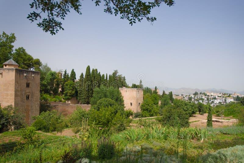 Vista no Alhambra imagens de stock royalty free