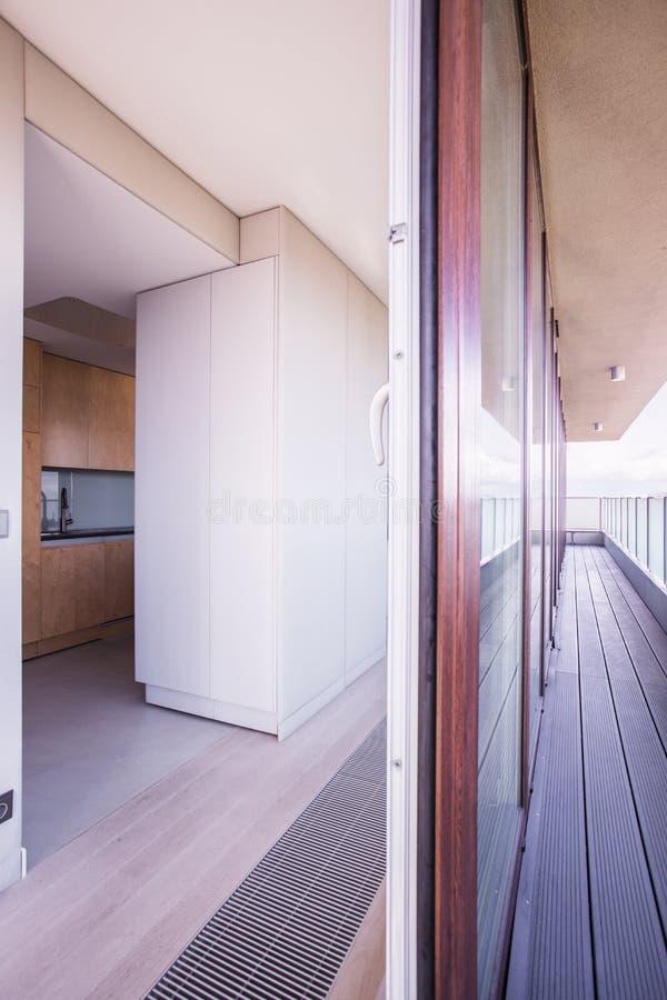 Vista no apartamento panorâmico fotografia de stock royalty free