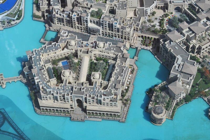 Lago Burj Khalifa fotografia de stock