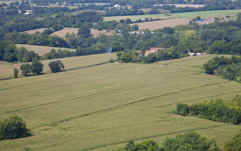 Vista no campo no Vendee, França imagens de stock