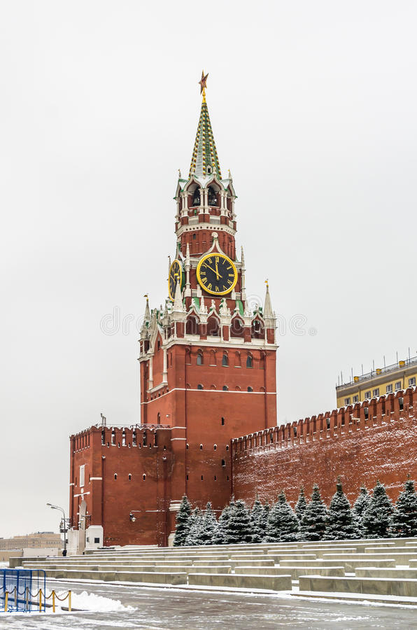 Vista no castelo do Kremlin em Moscou foto de stock royalty free
