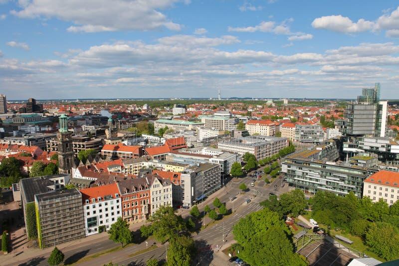 Vista no centro de Hannover fotos de stock