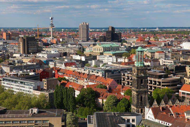 Vista no centro de Hannover imagem de stock royalty free