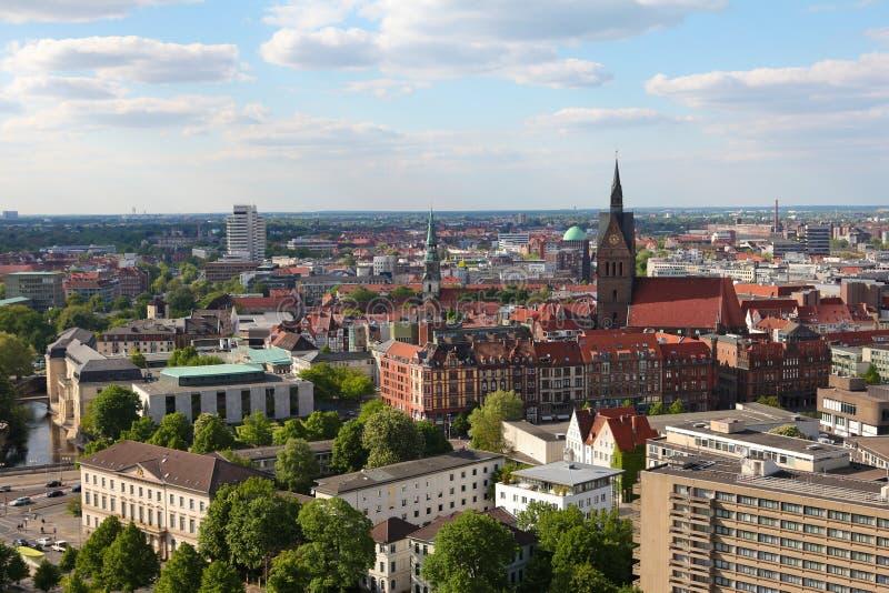 Vista no centro de Hannover foto de stock
