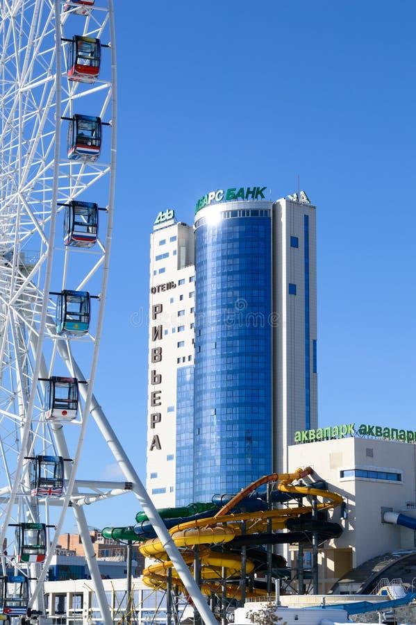 Vista no ` de Riviera do ` do hotel de Kazan, Rússia imagens de stock royalty free
