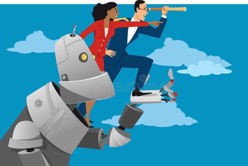 Vista no futuro ilustração royalty free