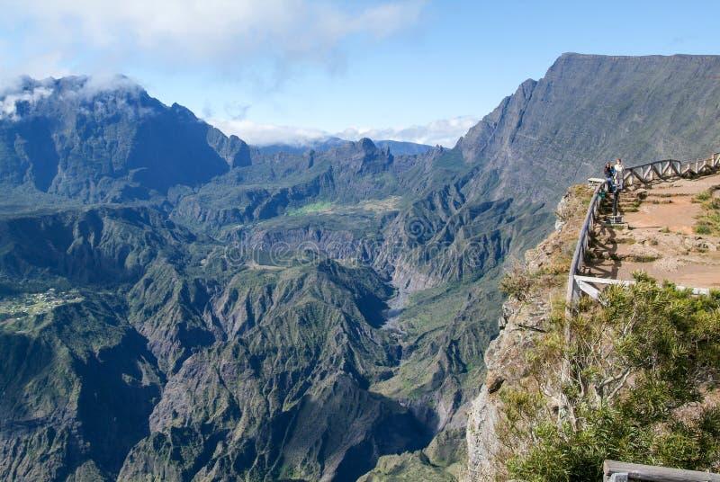 Vista no interior de Reunion Island fotografia de stock royalty free