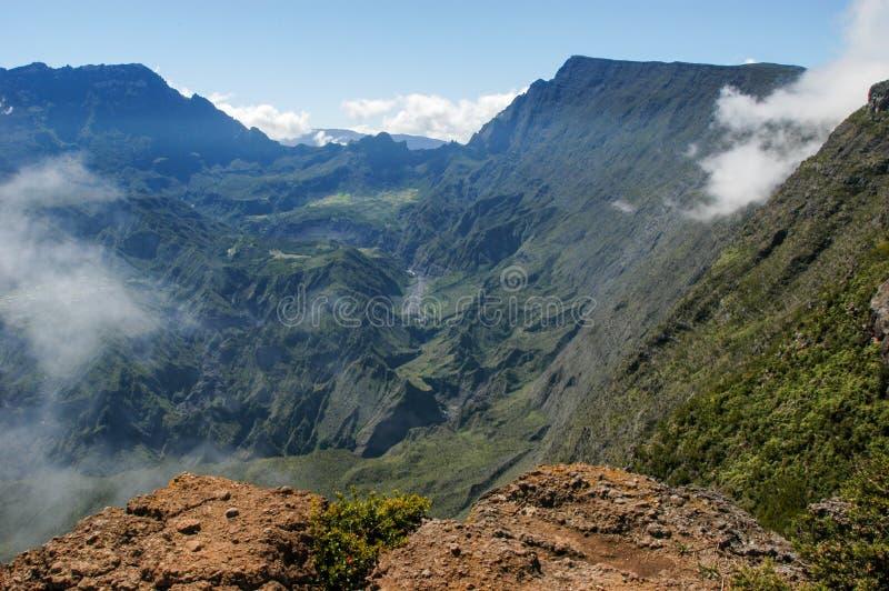 Vista no interior de Reunion Island foto de stock
